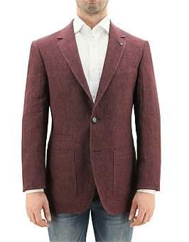 Daniel Hechter Maroon Textured Sportscoat