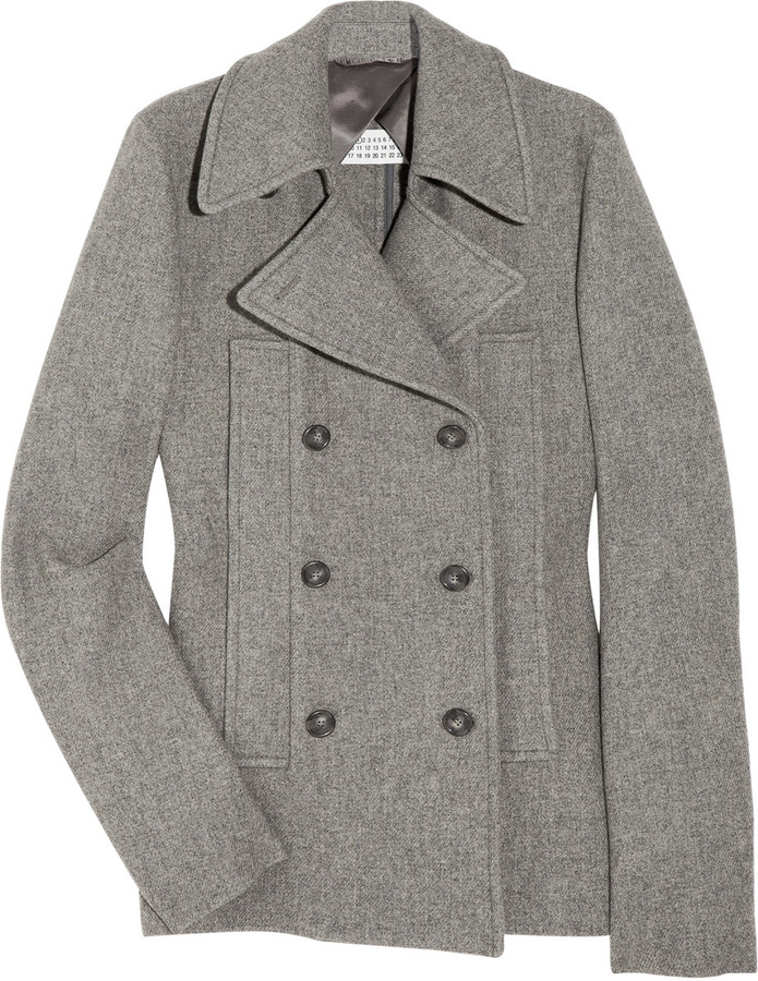 Maison Martin Margiela Double-breasted wool-blend coat