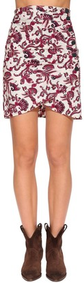 BA&SH Roster Printed Cotton Wrap Mini Skirt