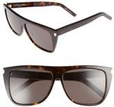 Saint Laurent Women's 59Mm Sunglasses - Black/ Silver