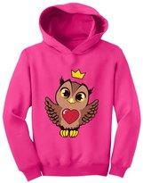 TeeStars - Little Girls Cute Owl with Crown Gift Idea Toddler Hoodie