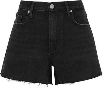 Frame Le Brigette black denim shorts