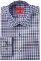 HUGO BOSS HUGO Men's Slim-Fit Navy with Red Plaid Dress Shirt