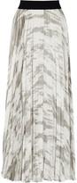 Enza Costa Pleated satin skirt