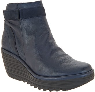 Fly London Leather Wedge Boots - Yado