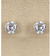 Dillard's sterling collection 7mm cz stud earrings