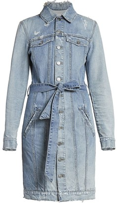 Givenchy Logo-Belted Denim Shirtdress