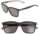 BOSS Men's 56Mm Sunglasses - Black/ Brown Grey