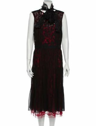 Oscar de la Renta 2016 Midi Length Dress Red