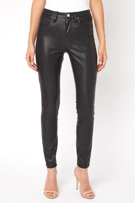 Blank NYC Vegan Leather Five Pocket Pant Black 26