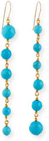 Nest Jewelry Graduated Turquoise-Bead Drop Earrings