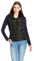 U.S. Polo Assn. Junior's Puffer Vest with Faux Fur Collar