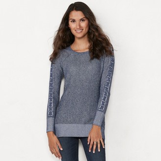 Lauren Conrad Women's Lace Inset Tunic Sweater