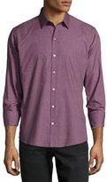 Zachary Prell Rozenblatt Printed Long-Sleeve Sport Shirt, Burgundy