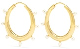 THEODORA WARRE Pearl and gold-plated earrings