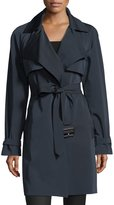 MICHAEL Michael Kors Draped Open-Front Trench Coat