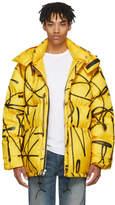 Adaptation Yellow Down Saber Graffiti Puffer Jacket