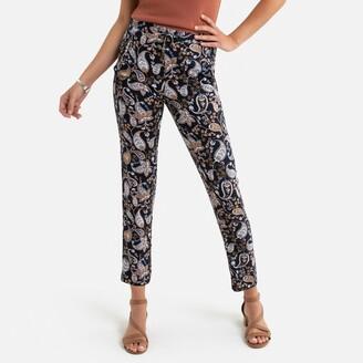 "Anne Weyburn Paisley Print Peg Trousers, Length 30.5"""