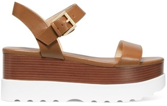 MICHAEL Michael Kors Marlon Leather Ankle-Strap Flatform Sandals