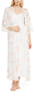 INC International Concepts Inc Embroidered Wrap Robe, Created for Macy's