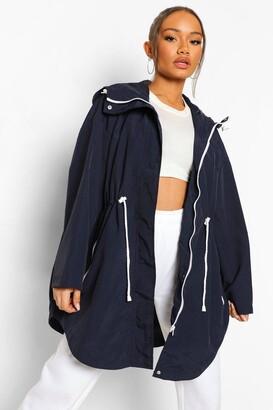 boohoo Hooded Rain Mac
