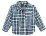 Tea Collection Infant Boy's Heath Plaid Woven Shirt