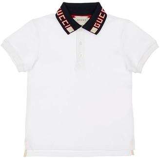 Gucci Cotton Piquet Polo Shirt