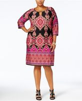 NY Collection Petite Plus Size Printed Shift Dress, Created for Macy's