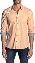 Jared Lang Checkered Print Long Sleeve Trim Fit Shirt