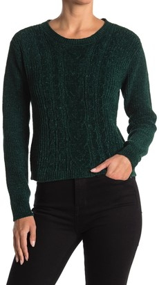 BB Dakota No Chill Chenille Cable Knit Sweater