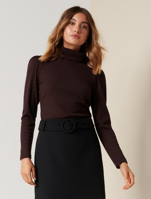 Forever New Rochelle Roll-Neck Fashion Skivvy - Blackberry - l