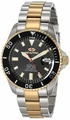 Seapro Men's Scuba 200 Automatic Stainless Steel Strap Silver 22 Casual Watch (Model: SP4326)