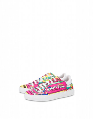 Moschino Chewing Gum Nylon Sneakers Woman Multicoloured Size 35 It - (5 Us)