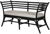 David Francis Furniture Sydney Wicker Bench Color: Black