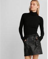 Express Minus the) leather sash waist mini skirt