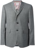 Thom Browne flap pockets blazer - men - Cupro/Wool - 3