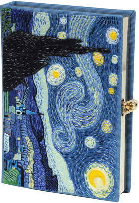 Olympia Le-Tan Olympia Le Tan Van Gogh Starry Night Book Clutch Bag