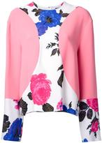 MSGM floral print detail blouse