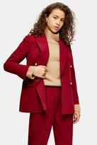 Topshop PETITE Berry Suit Blazer