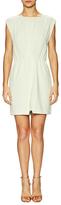 Halston Overlay Bodice Gathered Waist Mini Dress
