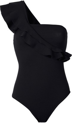 Clube Bossa Ruffled One-Shoulder Bodysuit