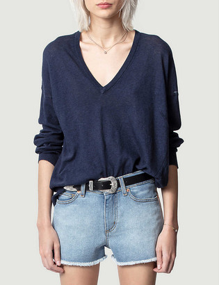 Zadig & Voltaire Picky cotton-knit jumper