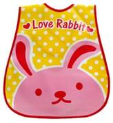 Kylin Express Baby Bib Best Home/Travel Bib Lovely Cartoon Design Soft,Waterproof Rabbit