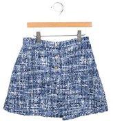 Oscar de la Renta Girls' Tweed Mini Skirt
