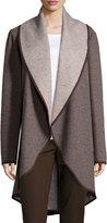 Lafayette 148 New York Lucinda Oversized Wool-Blend Coat, Fawn Multi