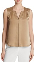 Elie Tahari Sheyda Sleeveless Silk Blouse