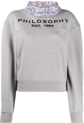 Philosophy di Lorenzo Serafini Contrasting Collar Sweatshirt