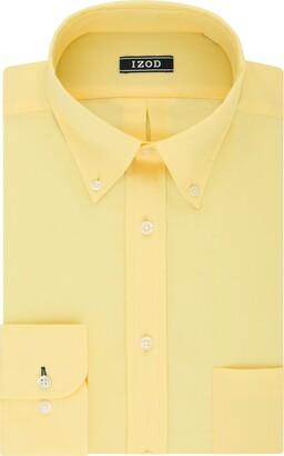 Izod Men's FIT Dress Shirts Stretch Solid (Big and Tall)