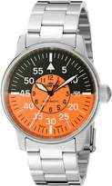 Fortis Men's Flieger Cockpit Watch, Silver/Orange