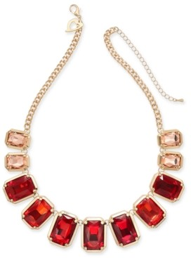 """Thalia Sodi Gold-Tone Ombre Stone Collar Necklace, 18"""" + 3"""" extender, Created for Macy's"""